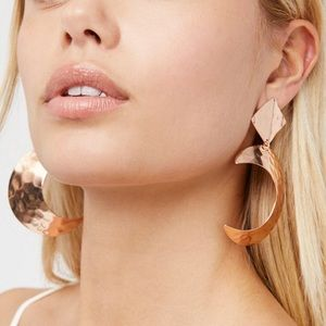 Free People Copper Crescent Earrings